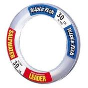 Triple Fish Intl LLC Saltwater Leader Wrist Coil Clear Mono 6.8kg 50yd #SWL0001501