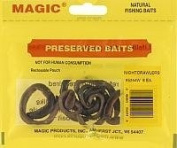 Magic Bait Preserved Nightcrawler, 6 Per Bag, Yellow