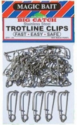 Magic Bait Trot Line Clip, 25 Per Bag, Silver