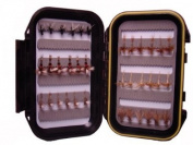 Dry Fly Assortment by Wild Water, 36 Flies with Small Fly Box