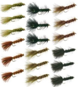 Woolly Bugger Trout Fly Fishing Flies Collection - 18 Flies