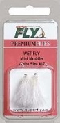 Superfly Fishing Lures Wet Fly Mini Muddler White #12