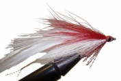 Red and White Deceiver Fly by Wild Water, Size 2, Qty. 3
