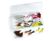 Smallmouth Fly Collection - Clouser's fly fishing flies kit - collection of 26 flies