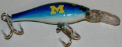 NCAA Officially Licenced University of Michigan Wolverines Sports Collector's Series Minnow Fishing Lure
