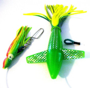 Turbo Teaser Bird Green Saltwater Fishing Lure for Tuna Mahi Wahoo Marlin