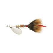 Mepps Aglia Dressed Treble Fishing Lure, 1/120ml, Silver/Brown Tail