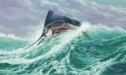 Guy Harvey Style Art Free Jumper Paper Print Sailfish Marlin Nautical Artwork Marine Florida Lighthouse Theme
