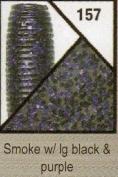 Gary Yamamoto 7.6cm Senko, Smoke with Black & Purple Flake