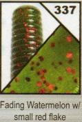 Yamamoto (9X-05-337) - 17.8cm Senko - WATERMELON FADED LIGHT with RED Flake