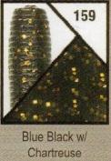 Gary Yamamoto, Skirted Twin Tail Hula Grub, 12.7cm , Blue Black with Chartreuse Flake