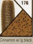 Gary Yamamoto, Skirted Twin Tail Hula Grub, 12.7cm , Cinnamon with Black Flake