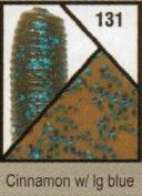 Gary Yamamoto, Skirted Twin Tail Hula Grub, 12.7cm , Cinnamon with Blue Flake
