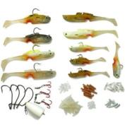 Mighty Bite 5-sense Soft Plastic Fishing Lures/baits kits System Hook inside Freshwater/saltwater Fishing BQ11