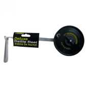 HT Enterprises Deluxe Rattle Reel with Arm and Drag, Red