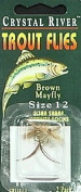 C/R FLYS- BROWN MAYFLY SZ-12