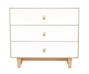 Oeuf Merlin 3 Drawer Dresser, Birch/White