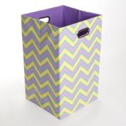GiggleDots Sweets Zig Zag Canvas Folding Laundry Bin