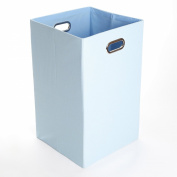 GiggleDots Sky Solid Baby Blue Canvas Folding Laundry Bin