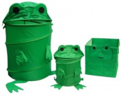 Frog Toy Chest Hamper, Cube and Waste Basket set