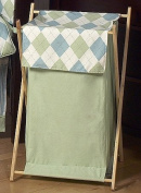 Baby and Kids Clothes Laundry Hamper for Sweet Jojo Designs for Blue and Green Argyle Bedding Sets