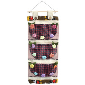 [Plaid & Colourful Flowers] Wall hanging/ Wall Organisers / Wall Baskets / Baskets
