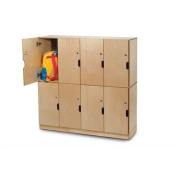 Whitney Brothers Birch Laminate Backpack Storage With Locking Doors