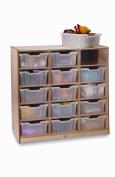 Whitney Brothers Birch Laminate Storage Cabinet, 15 Tray