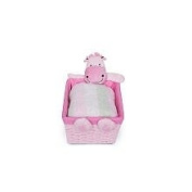 Little Boutique Plush Character Basket - Hippo - Pink