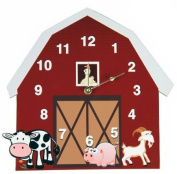 Rikki Knight Barnyard Wall Clock
