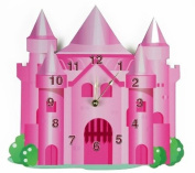 Rikki Knight Pink Princess Castle Wall Clock