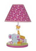 Bedtime Originals Tutti Frutti Lamp with Shade and Bulb, Hot Pink