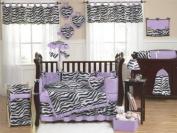 Purple Funky Zebra Lamp Shade by Sweet Jojo Designs