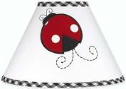 Red and White Ladybug Polka Dot Girls Childrens Lamp Shade by Sweet Jojo Designs