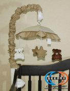 GEENNY Musical Mobile For Teddy Bear CRIB BEDDING SET