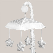 Grey and White Diamond Musical Baby Crib Mobile by Sweet Jojo Designs