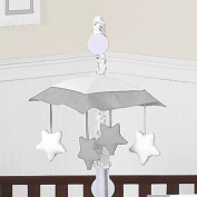 White and Grey Modern Hotel Musical Baby Crib Mobile by Sweet Jojo Designs