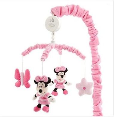 "Disney Minnie Mouse & Butterflies Musical Mobile,plush Minnie & Butterflies,Brahms ""Lullaby"""