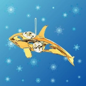 Orca Hanging Sun Catcher or Ornament..... With Clear. Austrian Crystals