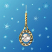 Tennis Racket Sun Catcher or Ornament..... With Clear. Austrian Crystals