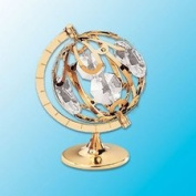Spinning Globe Table Decor ..... With Clear. Austrian Crystals