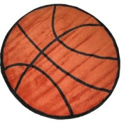 LA Rugs Fun Rug Shape Collection- Basketball