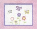 Pink and Purple Butterfly Accent Floor Rug by Sweet Jojo Designs