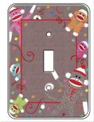 Sock Monkey Single Toggle Light Switch Plate Cover