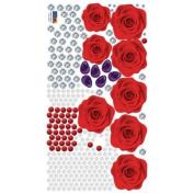 Nursery Easy Apply Wall Sticker Decorations - ECO Rose Gem Jewellery