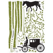 Nursery Easy Apply Wall Sticker Decorations - Quiet Stage Coach Ride