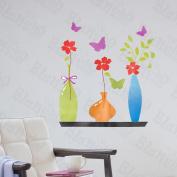 [Transparent Vases] Decorative Wall Stickers Appliques Decals Wall Decor Home Decor