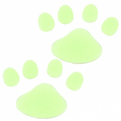 Amico Glow in Dark Yellow Plastic Paw Footprint Luminous Sticker 10 Pcs