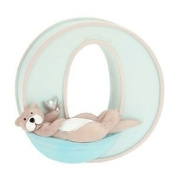 "Child to Cherish Baby Pastel Animal Alphabet Letter ""O"""