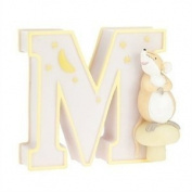 "Child to Cherish Baby Pastel Animal Alphabet Letter ""M"""